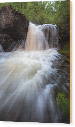 Wood Print featuring the photograph Fall And Splash by David Andersen
