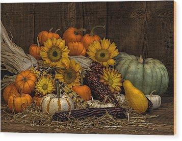 Fall Assortment Wood Print