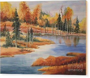 Fall At Elk Island  Wood Print by Mohamed Hirji