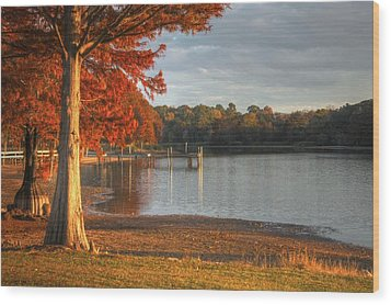 Fall At Georgia Lake Wood Print