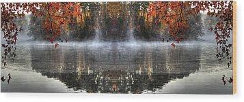 Fall At Lake Soddy Wood Print