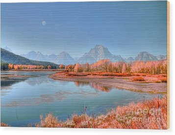 Fall At Oxbow Bend Wood Print by Kathleen Struckle