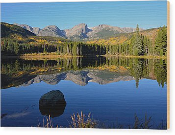 Fall At Sprague Lake Wood Print by Tranquil Light  Photography