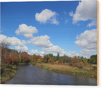 Fall At The Credit River Wood Print