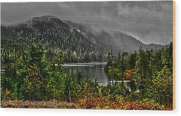 Wood Print featuring the photograph Fall At The Lake. by Timothy Latta