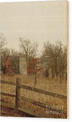Fall Barn Wood Print by Margie Hurwich