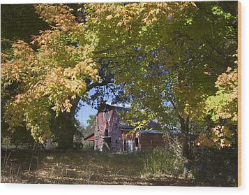 Wood Print featuring the photograph Fall Barn by Robert Camp