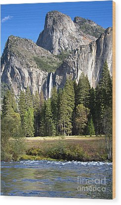 Wood Print featuring the photograph Yosemite National Park-sentinel Rock by David Millenheft