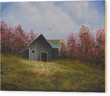 Fall Begins Wood Print by C Steele