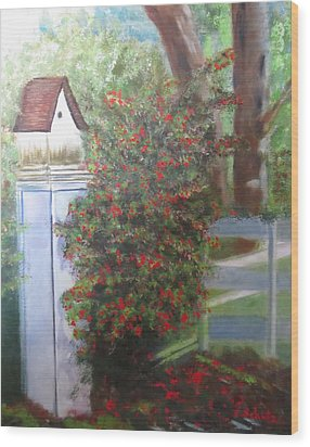 Wood Print featuring the painting Fall Berries by Sharon Schultz