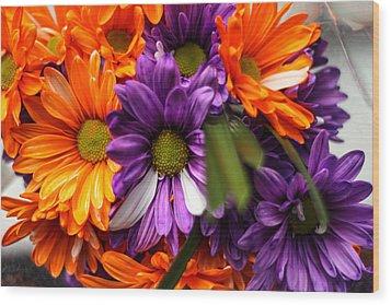 Fall Bloom Wood Print by Brandon Hussey