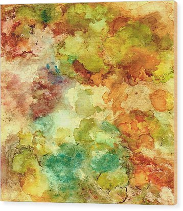 Fall Bouquet Wood Print by Rosie Brown