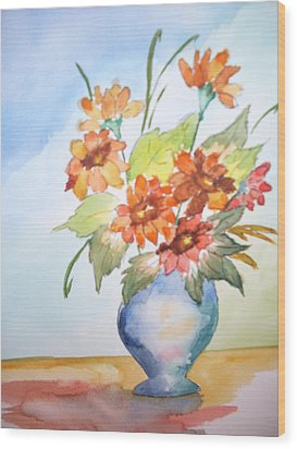 Fall Bouquet Wood Print
