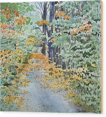 Fall Wood Print by Christine Lathrop