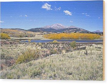 Fall Colors Fairplay Colorado Wood Print by James Steele