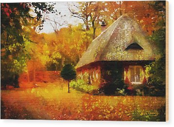 Fall Colors Wood Print by Wayne Pascall