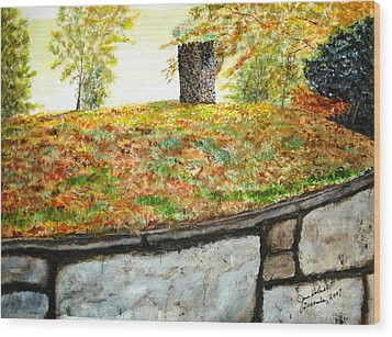 Fall Comes To Hastings Tower Wood Print by June Holwell