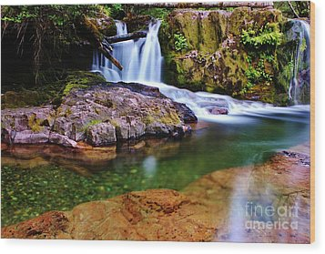 Fall Creek Oregon Wood Print