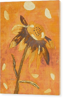 Fall Daisy Wood Print