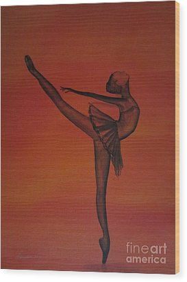 Fall Dancer 1 Wood Print