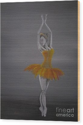 Wood Print featuring the painting Fall Dancer 2 by Laurianna Taylor