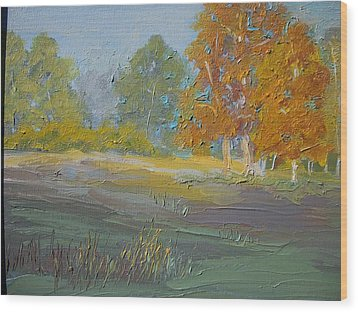Fall Field Wood Print by Dwayne Gresham
