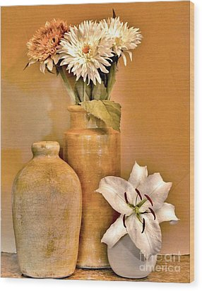 Fall Floral Bouquets Wood Print