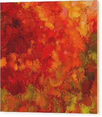 Fall Frolic Wood Print by Lourry Legarde
