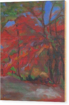 Fall Fusion Wood Print by Susan Hanlon