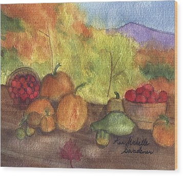 Fall Harvest Wood Print
