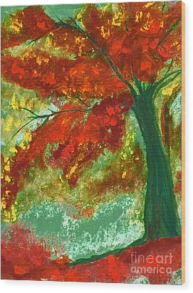 Fall Impression By Jrr Wood Print by First Star Art