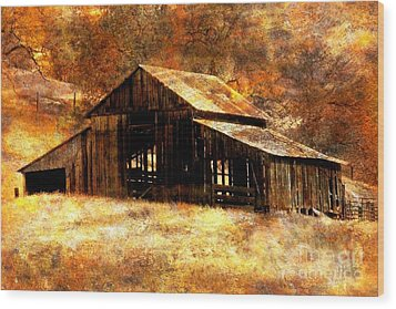 Fall In Country Wood Print