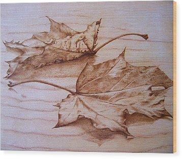 Fall In Wood Print by Cynthia Adams