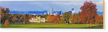 Fall In Denver Colorado Wood Print