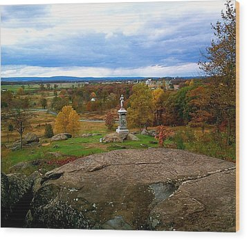 Wood Print featuring the photograph Fall In Gettysburg by Amazing Photographs AKA Christian Wilson