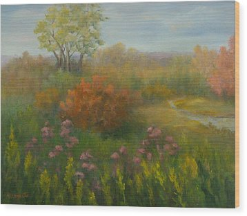Fall In New England Wood Print by Pamela Allegretto