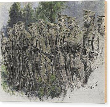 Fall In Norfolk Volunteers Wood Print by Frank Gillett