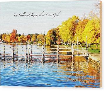 Fall In Skaneateles Ny Wood Print by Margie Amberge