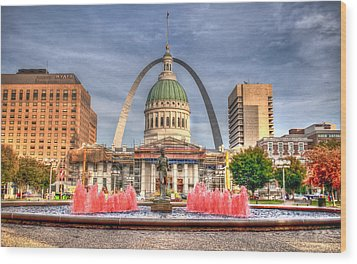 Wood Print featuring the photograph Fall In St. Louis by Deborah Klubertanz