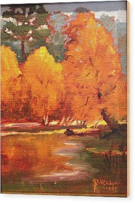 Fall  Wood Print by Jenell Richards