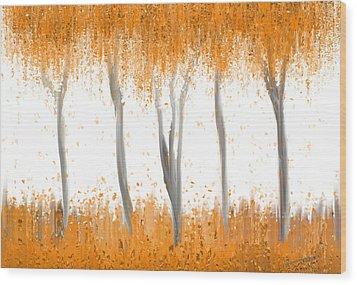 Fall Wood Print by Kume Bryant
