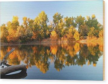 Fall Lake Wood Print