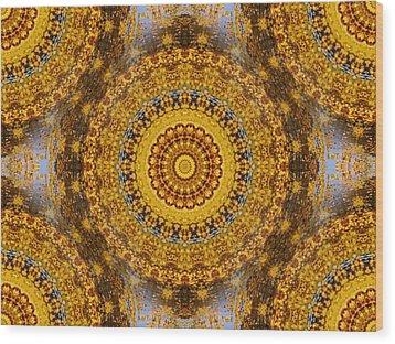 Fall Leaf Pattern Wood Print by Aliceann Carlton