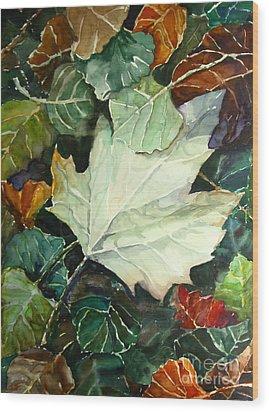 Fall Leaves Wood Print by Jennifer Apffel
