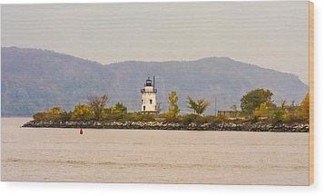 Fall Lighthouse Wood Print