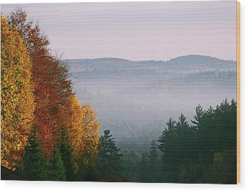 Wood Print featuring the photograph Fall Morning by David Porteus