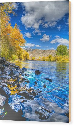 Wood Print featuring the photograph Fall On The Big Hole River  by Kevin Bone
