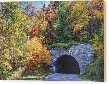 Fall On The Parkway Wood Print