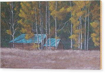 Fall On The Ranch Wood Print