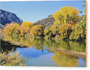 Fall On The Rio Grande Wood Print